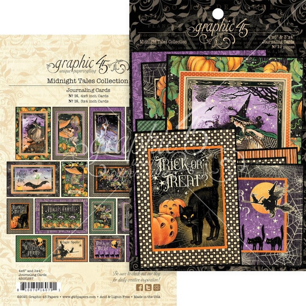 Midnight Tales By Graphic 45 Journalling And Ephemera Cards