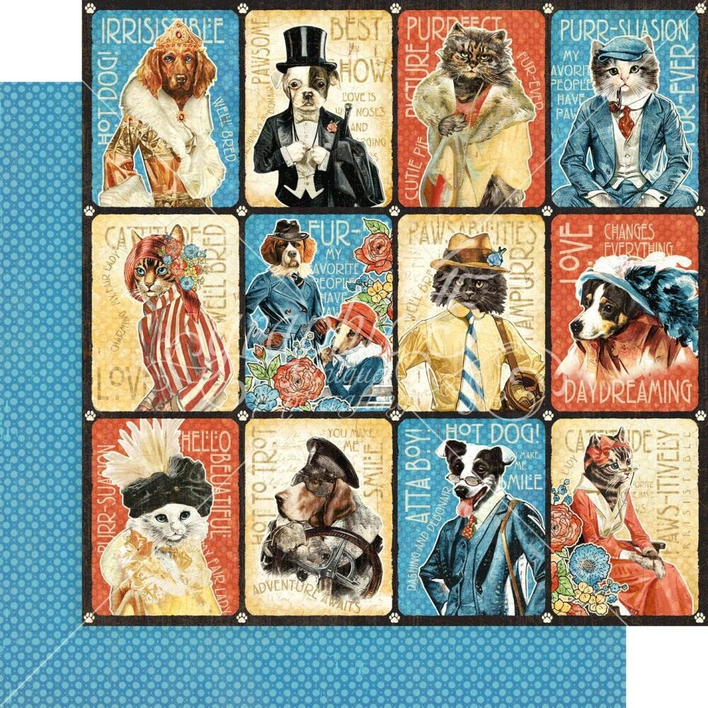 Well Groomed By Graphic 45 Purr-fect 12x12 Sheet