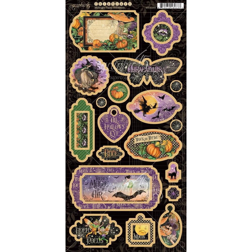 Midnight Tales By Graphic 45 Chipboard Embellishments