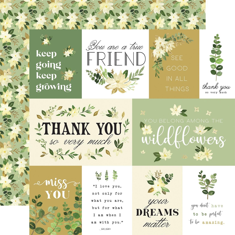 Flora #4 12x12 Natural Journalling Cards