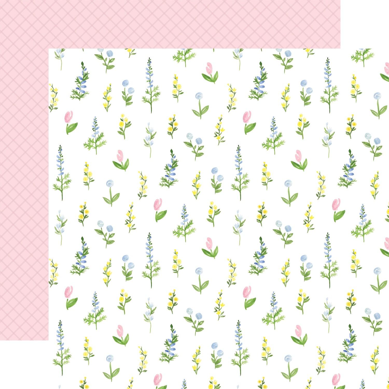 Flora #4 12x12 Sheet Pastel Stems