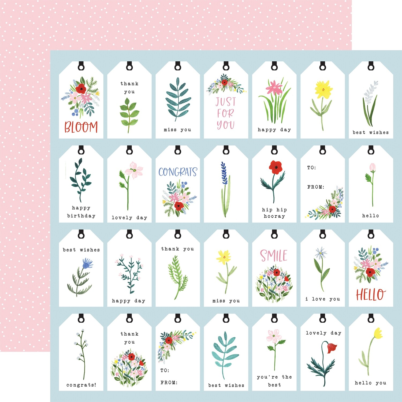 Flora #4 12x12 Sheet Bold Tags