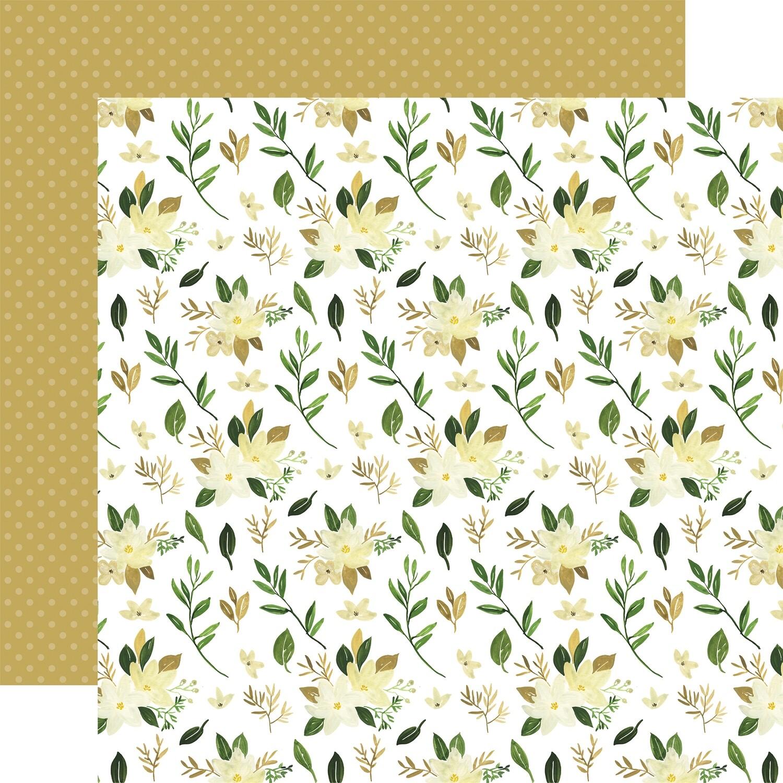 Flora #4 12x12 Sheet Natural Stems