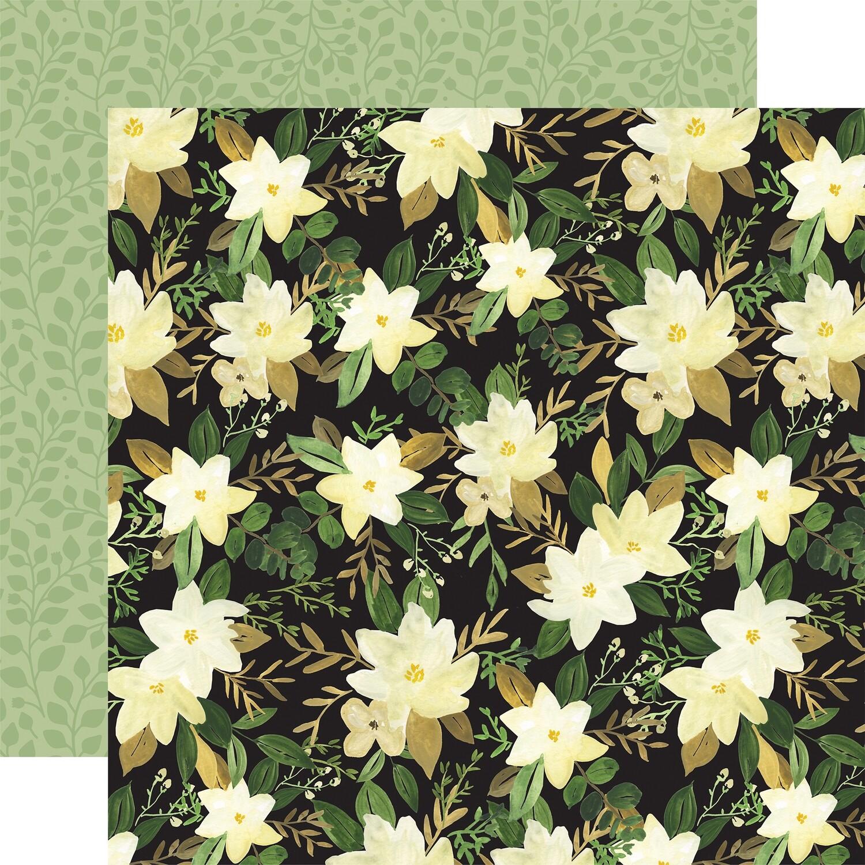 Flora #4 12x12 Sheet Natural Large Floral