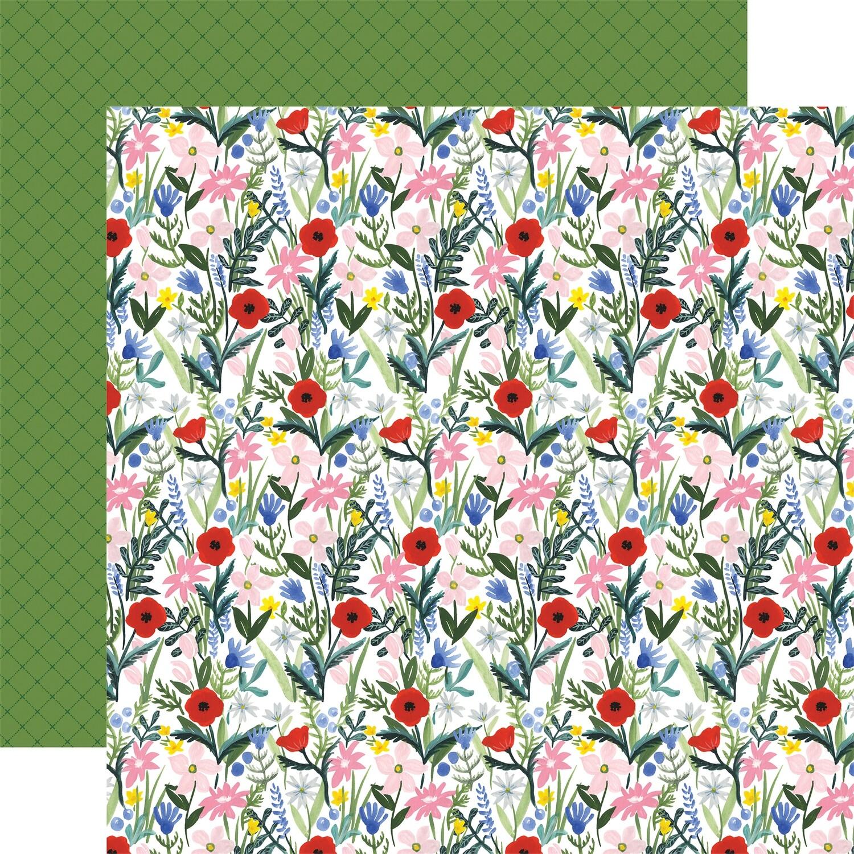 Flora #4 12x12 Sheet Bold Stems