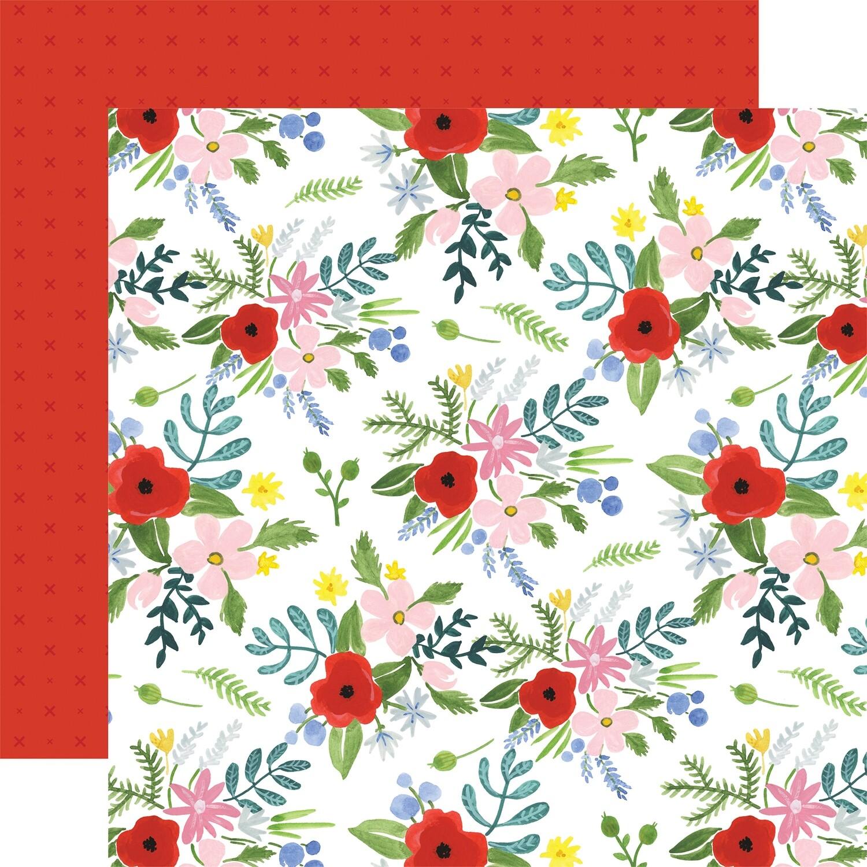 Flora #4 12x12 Sheets Bold Large Floral