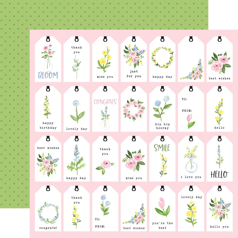Flora #4 12x12 Sheet Pastel Tags