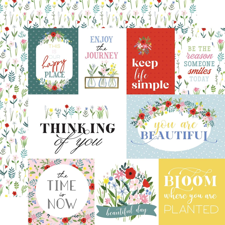 Flora #4 12x12 Sheets Bold Journalling Cards