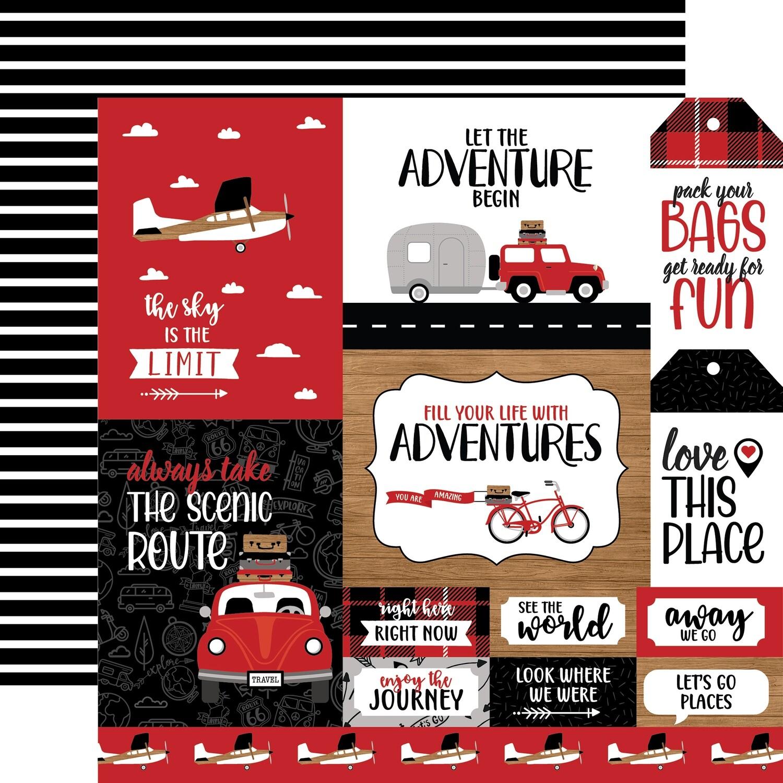 Let's Go Anywhere 12x12 Sheet Multi Journalling Cards