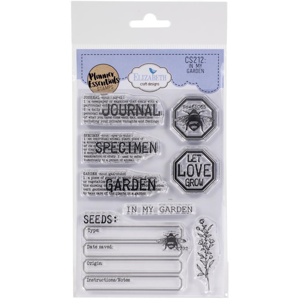 Planner Essentials Stamps - In My Garden By Elizabet Craft Designs