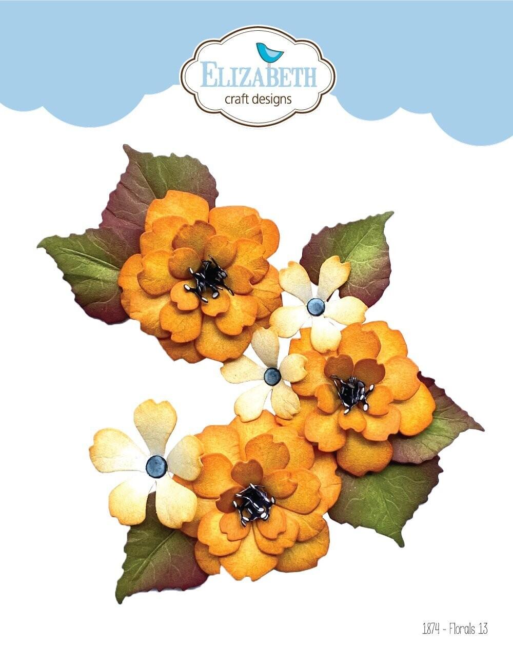 Elizabeth Craft Designs Dies - 1874 Florals 13