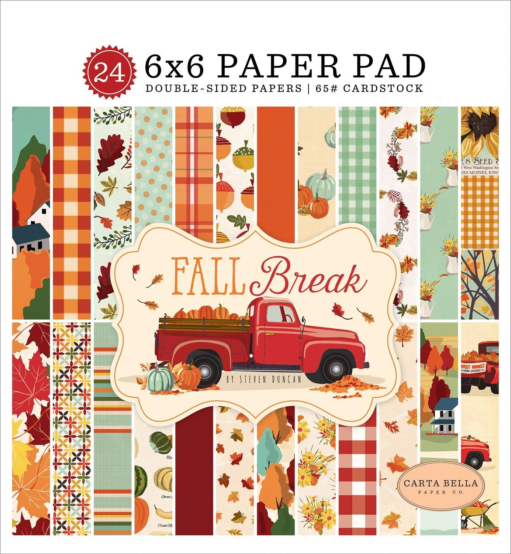 """Carta Bella 6"""" X 6"""" Paper Pad - Fall Break"""