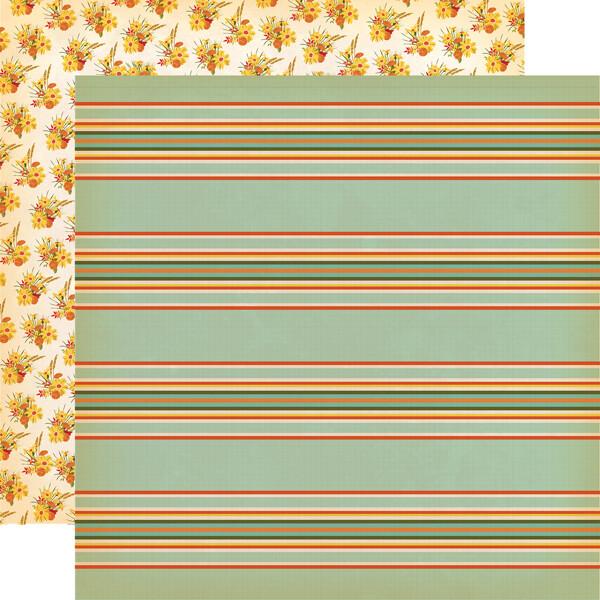 "Carta Bella Fall Break 12"" X 12"" Sheet - Scarecrow Stripe"