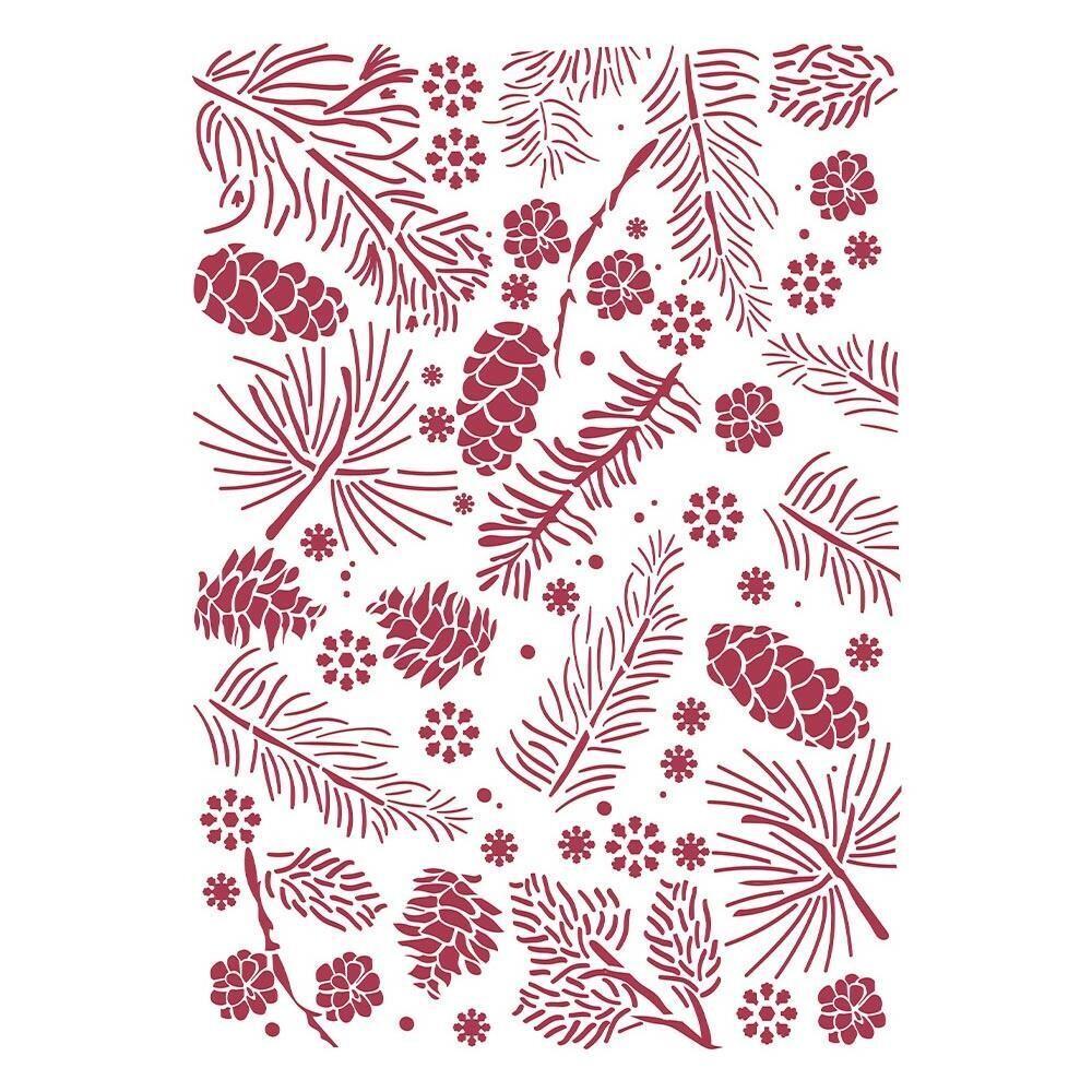 Stamperia Stencil - Classic Christmas Pinecones