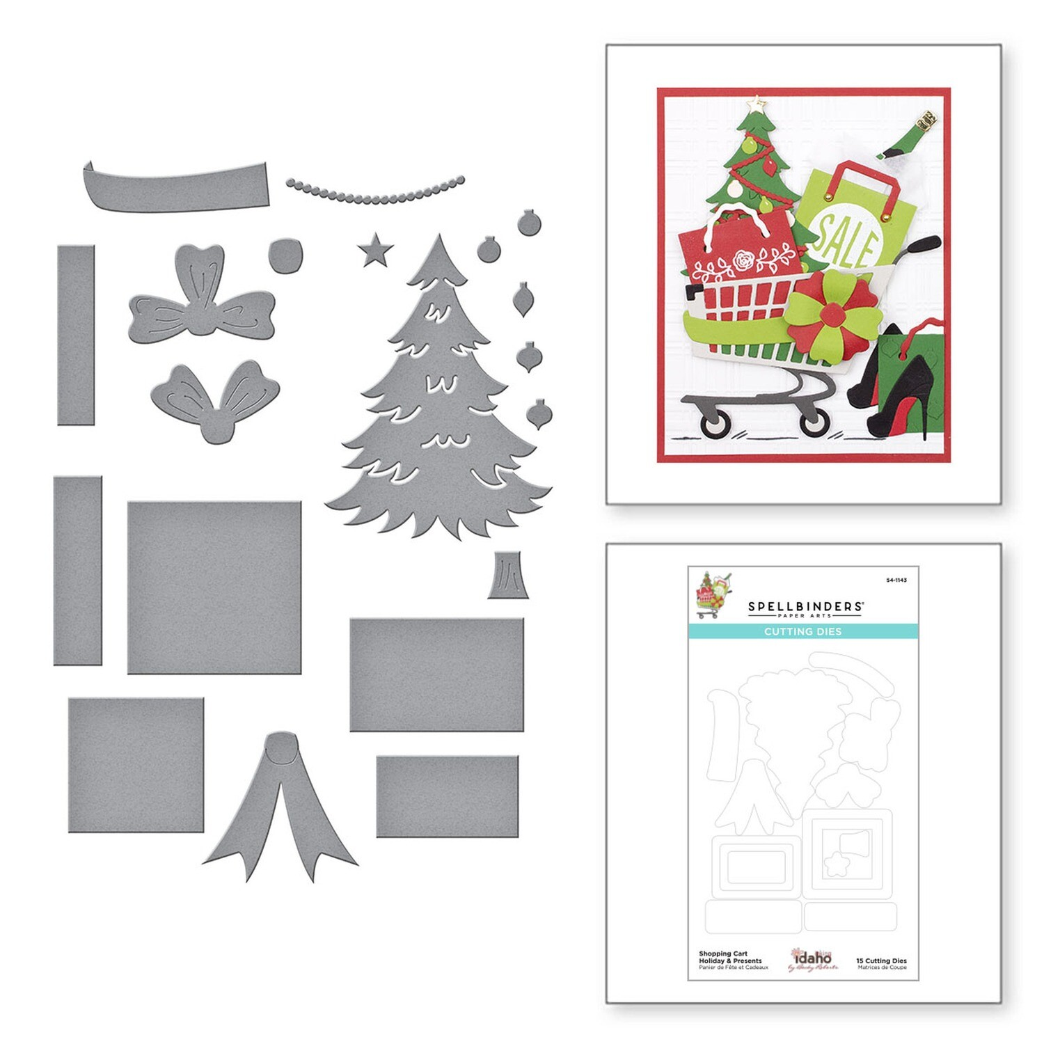 Spellbinders Dies - Shopping Cart Holiday And Presents