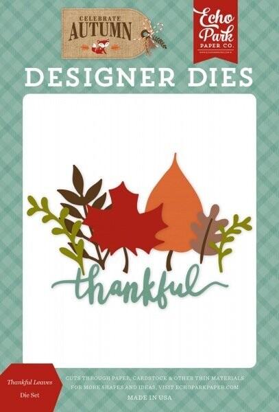 Echo Park Celebrate Autumn Designer Dies - Thankful Leaves