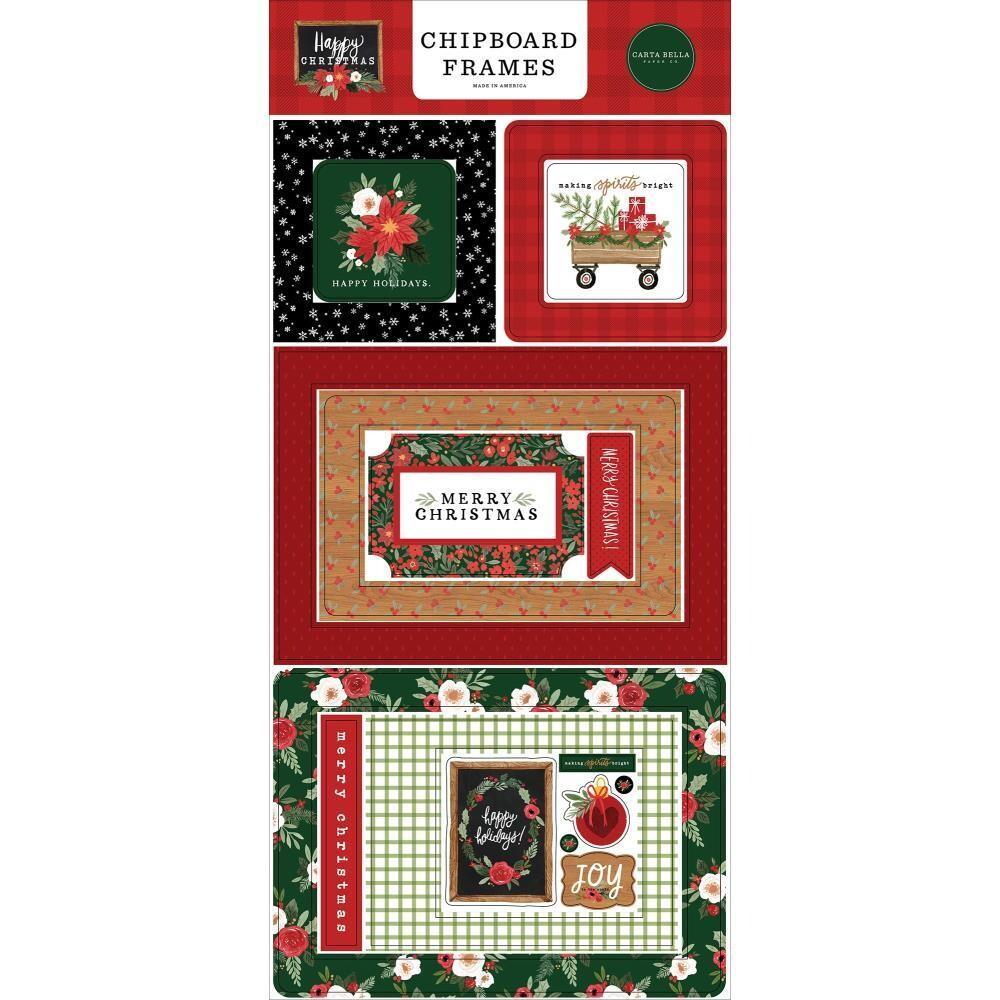 Carta Bella Happy Christmas Chipboard Frames