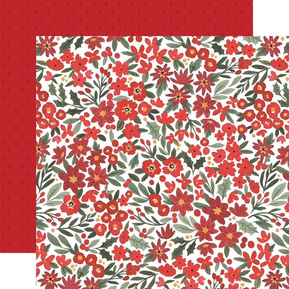 "Carta Bella Happy Christmas 12"" X 12"" Sheet - Christmas Floral"