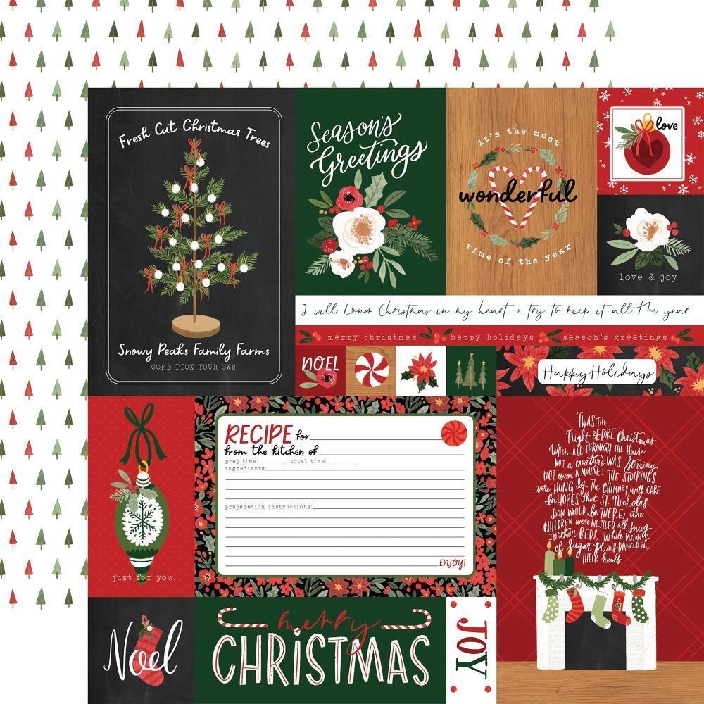 "Carta Bella Happy Christmas 12"" X 12"" Sheet - Multi Journalling Cards"