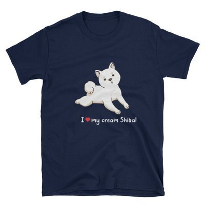 Kawaii Shiba Co. I Love My Cream Shiba! Short-Sleeve Unisex T-Shirt