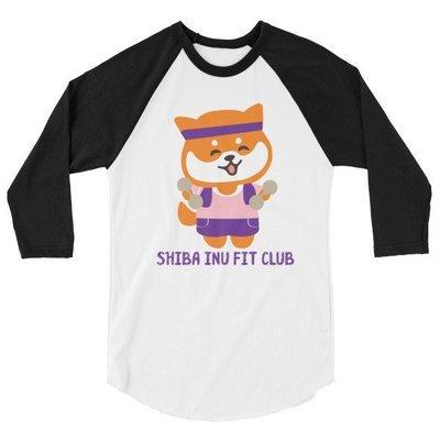 Kawaii Shiba Co. 3/4 sleeve raglan shirt