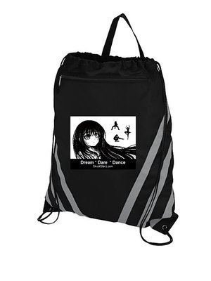 Girl Dancer Draw String Gym Bag