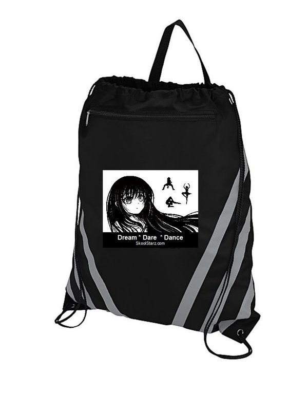 Girl Dancer Draw String Gym Bag