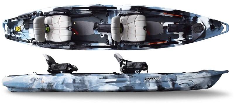 Feelfree Overdrive Lure II Tandem Kayak - Winter Camo