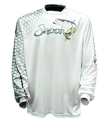 Big Fish Gear Long Sleeve Shirt - Snook Scales White