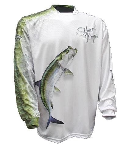 Big Fish Gear Long Sleeve Shirt -Silver King White