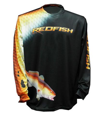 Big Fish Long Sleeve Shirt - Black Redfish