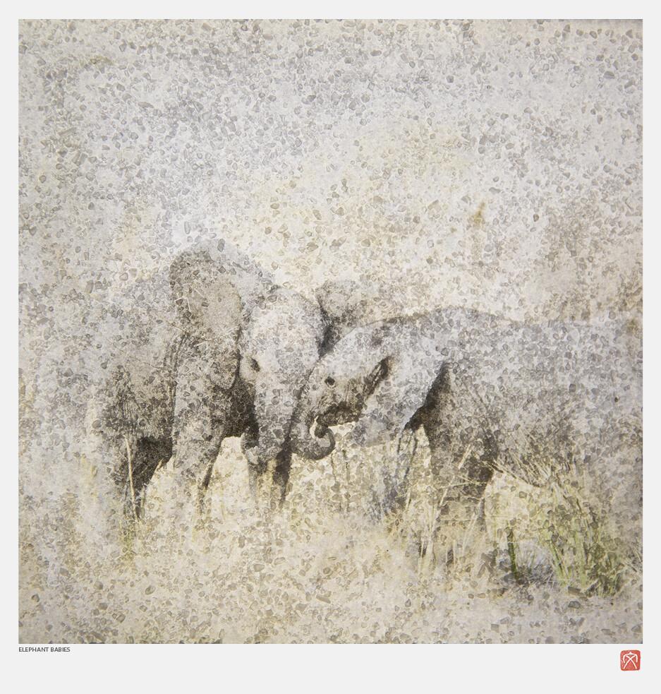African Crystal | Elephant Babies | Fumi Hirai