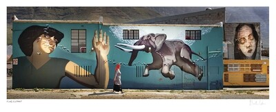 Flying Elephant | Street Art Impression | Martin Osner