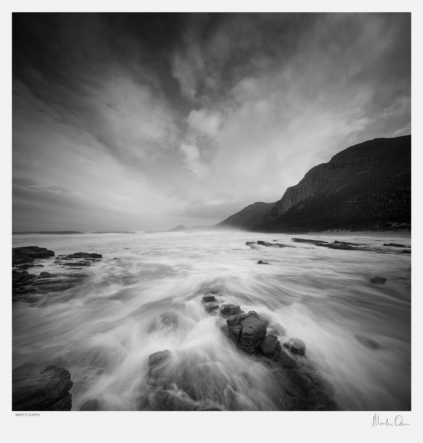 Classic Black and White   Misty Cliffs   Martin Osner