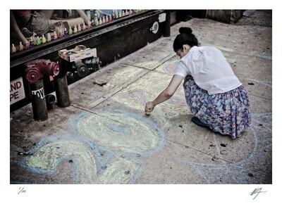 Lady doing sidewalk advertising | New York | Ed 10 | Harry De Zitter