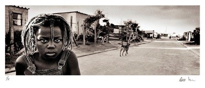 Black & white panoramic - Township boy | Ed 12 | Antti Viitala
