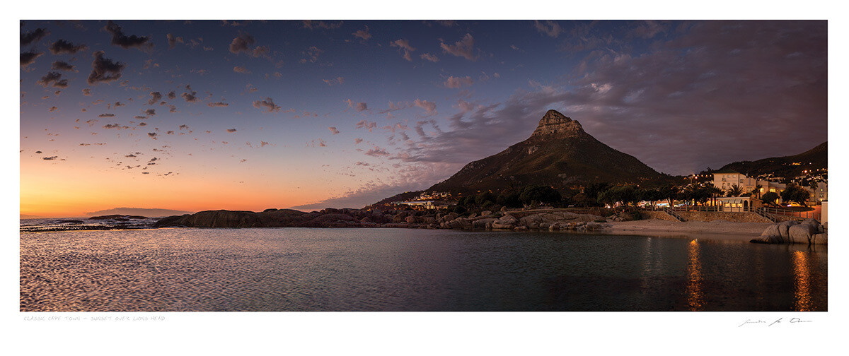 Classic Cape Town | Sunset over Lions Head | Samantha Lee Osner