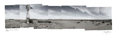 Panoramic Photomontage - Karoo Windmill | Ed 30 | Sandy Mclea