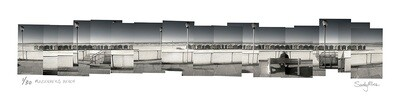 Panoramic Photomontage - Muizenberg Bench | Ed 30 | Sandy Mclea