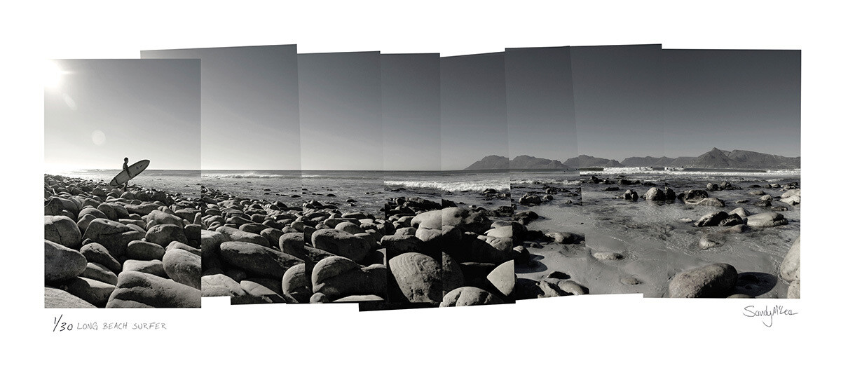 Panoramic Photomontage - Long Beach Surfer | Ed 30 | Sandy Mclea