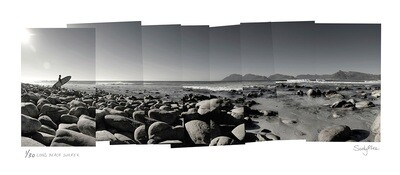 Panoramic Photomontage - Long Beach Surfer | Ed 30 | Sandy Mclea