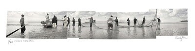 Panoramic Photomontage - Fish Hoek Fishermen | Ed 30 | Sandy Mclea