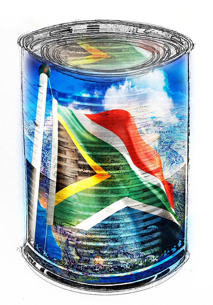 SA in a Can - South African Flag