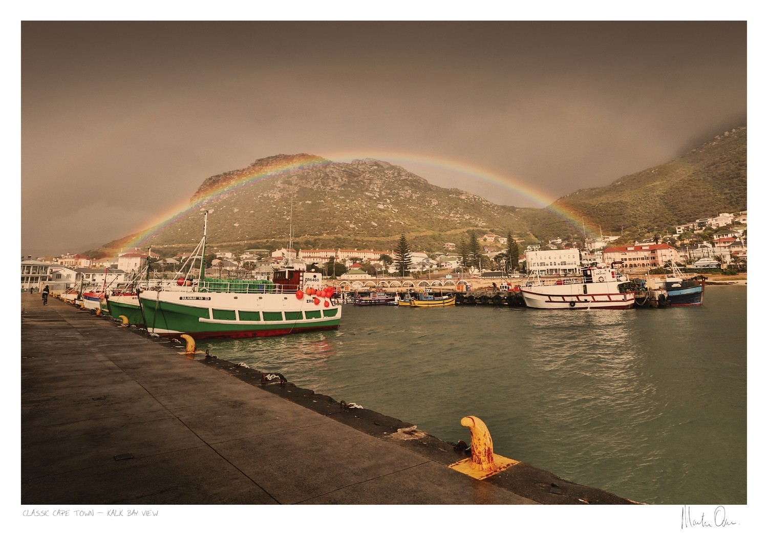 Classic Cape Town | Rainbow over Kalk Bay | Martin Osner
