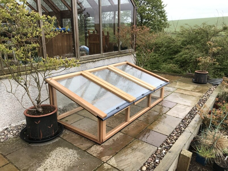 6ft x 3ft Fully Glazed Cedar Coldframe