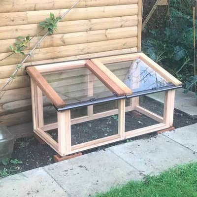 4ft x 2ft Fully Glazed Cedar Coldframe