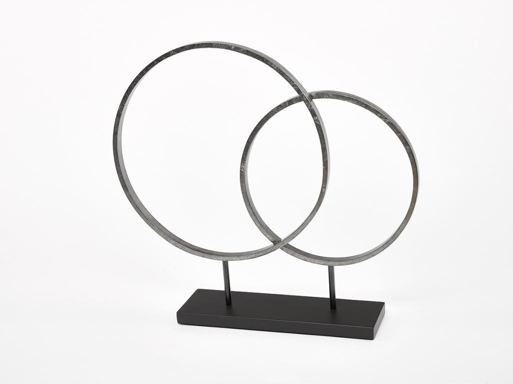 Circle Sculpture Warm Silver