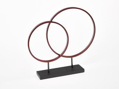 Circle Sculpture Warm Red