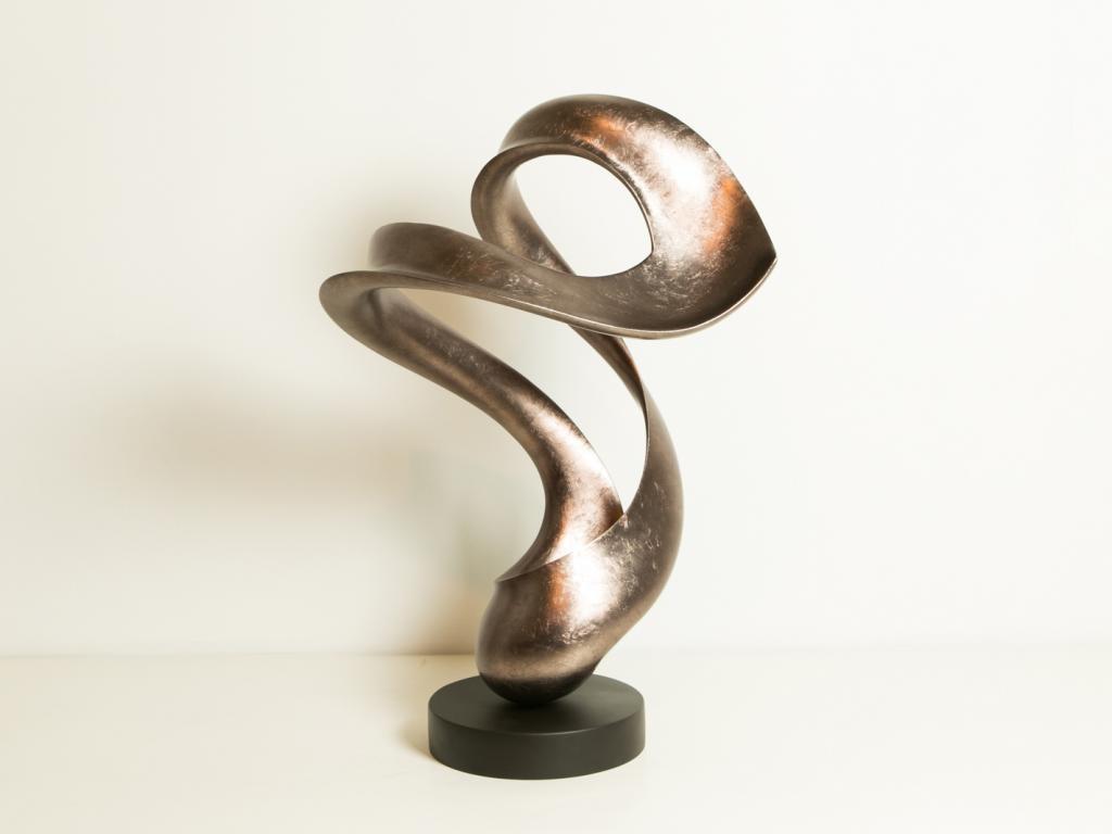 Abstract Sculpture Matt Warm Silver
