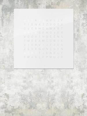 QlockTwo Classic Acryl Qolor - Vanilla Sugar